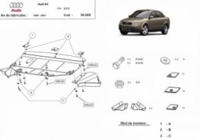 Scut motor  frontal Audi A4 1 1995 - 2001 (ptr. motorizari V6)