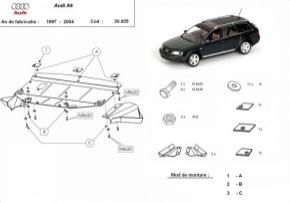 Scut motor  frontal Audi A6 1997 - 2004