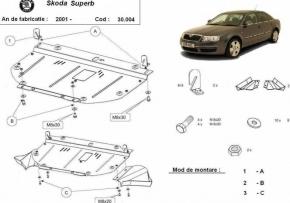 Scut motor  frontal Skoda Superb 2001 - 2008