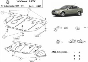 Scut motor  frontal VW Passat 1997 - 2005 (ptr. motorizari V6)