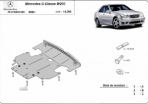 Scut motor Mercedes C-Classe, W203, 2.0, 2000