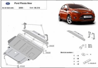 Scut motor  Ford Fiesta dupa 2008