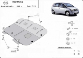 Scut motor  Opel Meriva dupa 2000