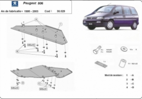 Scut motor  Peugeot 806 1995-2003