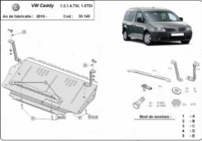 Scut motor  Volkswagen Caddy dupa 2010