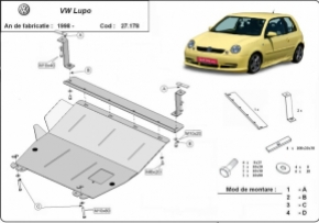 Scut motor  VW Lupo dupa 1999