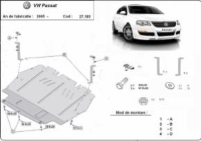 Scut motor  VW Passat dupa 2005