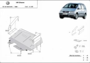 Scut motor  Volkswagen Sharan dupa 1996