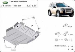 Scut motor  Land Rover Freelander pana la 2007