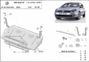 Scut motor  VW Golf 6 dupa 2009, Motorizare 1.2 , 1.4 , TSI , 1.6 TDI