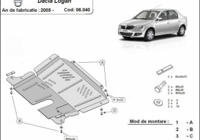 Scut motor  Dacia Logan dupa 2005