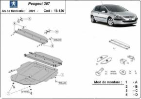 Scut motor  Peugeot 307 dupa 2001