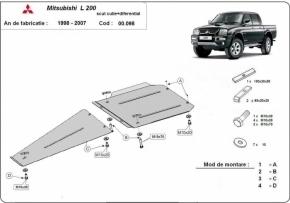 Scut diferential Mitsubishi L200 1998-2007