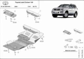 Scut motor  Toyota Land Cruiser dupa 2005