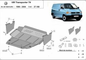 Scut motor  VW Transporter T4, motorizare 2.0, 2.4, 2.5, 2.8TDI , fabricat intre1990-2003