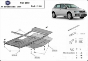 Scut motor  Fiat Stilo fabricat dupa 2001, motorizare 1.4, 1.6, 1.8