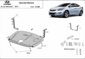 Scut motor  Hyundai Elantra , Motorizare 1.4,1.6,2.0