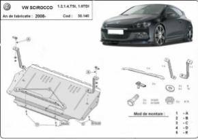Scut motor  Volkswagen Scirocco | Motorizare 1.2, 1.4 , TSI , 1.6TDI , 2008