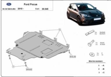 Scut motor  Ford Focus III | motorizare 1.4, 1.6 TD, 2.0 TD , Fabricat dupa 2010