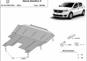 Scut motor  Dacia Sandero, motorizare 1.2, 1.4, 1.5 Tdci, fabricat 2012