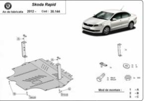 Scut motor  Skoda Rapid, 1.2, 1.4, TSI, 1.6 TDI, dupã 2012